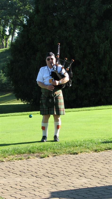outing ideas bag piper for scottish themed golf tournament image golf