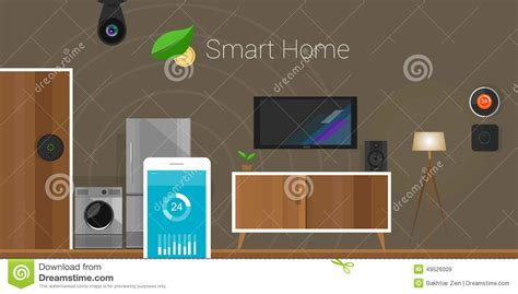 smart home of things stock illustration image