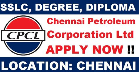 design engineer trainee jobs in chennai chennai petroleum corporation ltd cpcl recruitment 2017