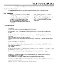 Clinical Psychologist Resume by Clinical Psychology Resume Exles Find The Best Clinical Psychology Resume Sles