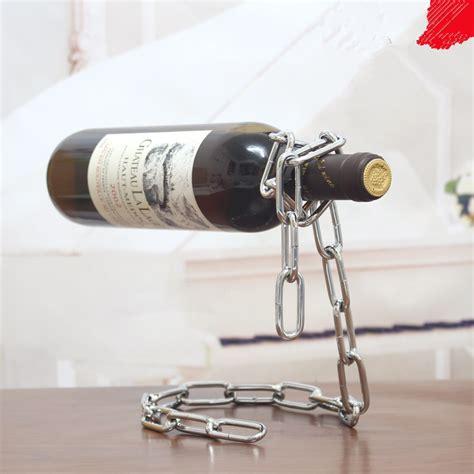 Rak Rantai Anggur Creative Suspension Chain Wine Rack Silver creative suspension chain wine rack rak rantai anggur silver jakartanotebook
