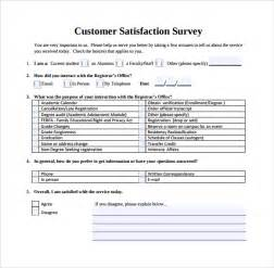 Customer Service Survey Questions Template by Customer Satisfaction Survey 7 Free Documents