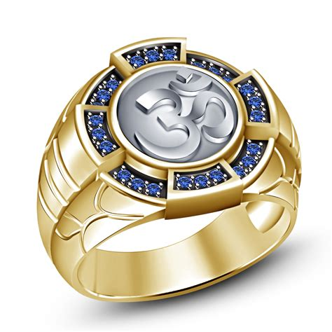 new design yellow gold finishing 925 sterling silver blue