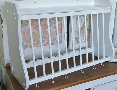 Painted Plate Rack by Wooden White Painted Plate Rack
