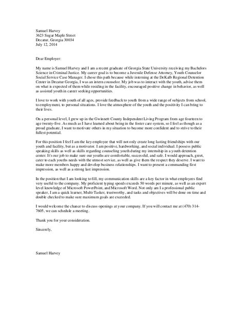 Cover Letter Youth Counselor Harveys Youth Counselor Cover Letter