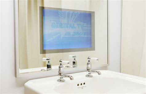 waterproof bathroom television vanity mirror tv