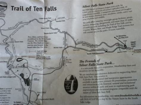 Silver Falls State Park Map by Hiking At Silver Falls The Trail Of Ten Falls Canyon