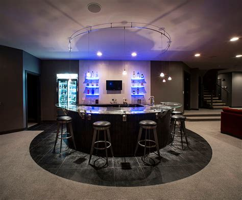 home bar interior circular bar contemporary home bar other metro by paul interiors