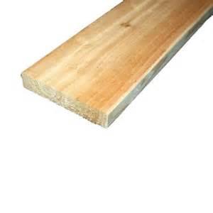 home depot cedar planks 5 4 in x 6 in x 10 ft premium radius edge cedar lumber