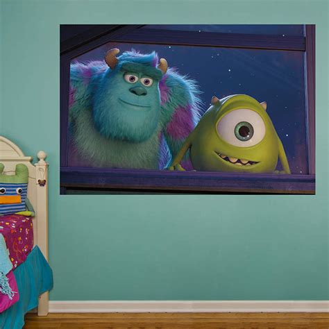 Monsters Inc Wall Decor by Mike And Sulley Window Mural Fathead Wall Decal