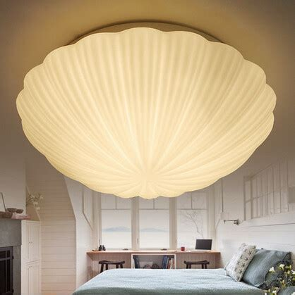 glass ceiling bedroom shell shape led ceiling light modern warm bedroom glass