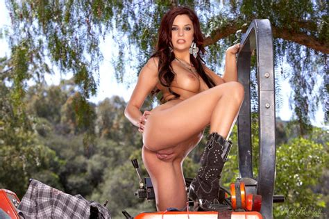 Redhead Country Girl Jayden Cole Strips Naked On The