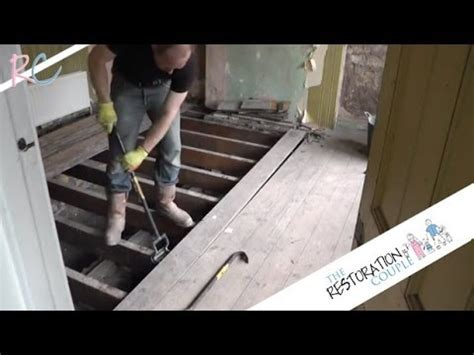 Removing, Insulating and Restoring a Suspended Wooden