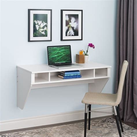 Designer Floating Desk by Designer Floating Desk In Fresh White Finish Wehw 0500 1