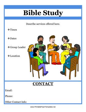bible study flyer template free bible study flyer