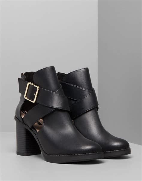 pull high heel cut out ankle boots in black lyst