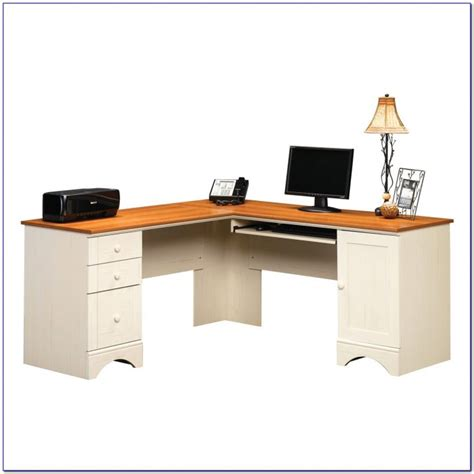 Sauder Harbor View Corner Computer Desk Antiqued White by Sauder Harbor View Corner Computer Desk Antiqued White