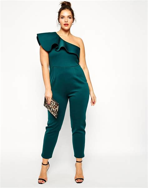 Jumpsuit Scuba Import 1 lyst asos jumpsuit in scuba with one shoulder in green