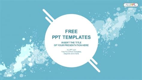 abstract splashes powerpoint templates