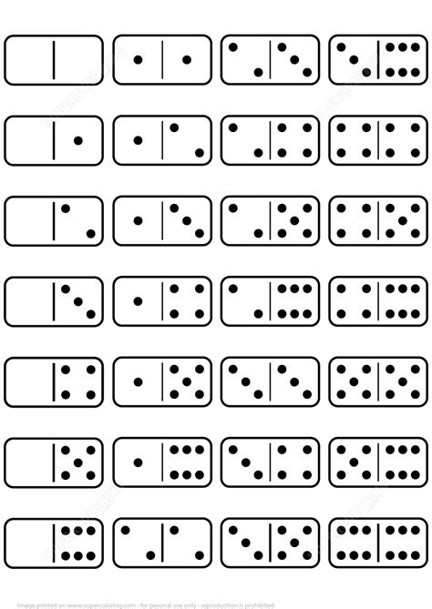 Printable Dominoes printable dominoes set template free printable