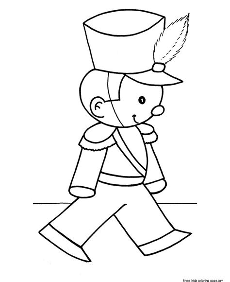 Christmas Toy Soldiers Coloring Pages For Kidsfree Soldiers Coloring Pages