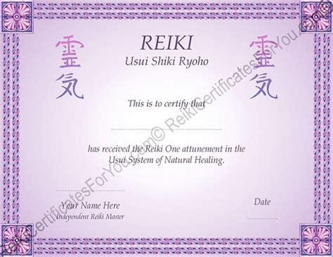 border 8 reiki certificate template landscape oriented