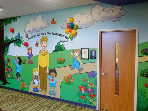 daycare wall murals wall painting ideas for preschool www imgkid the image kid has it