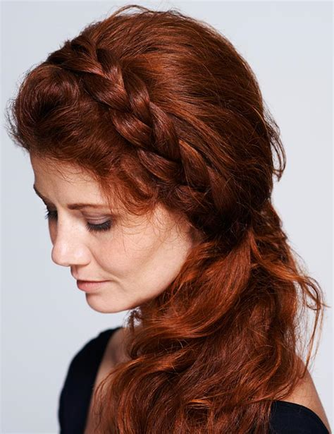 hairstyles for thinning sidess side braid hairstyles lovetoknow