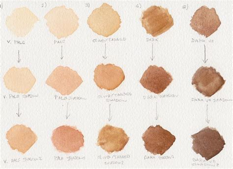 what colors make skin color best 25 skin color chart ideas on skin tone