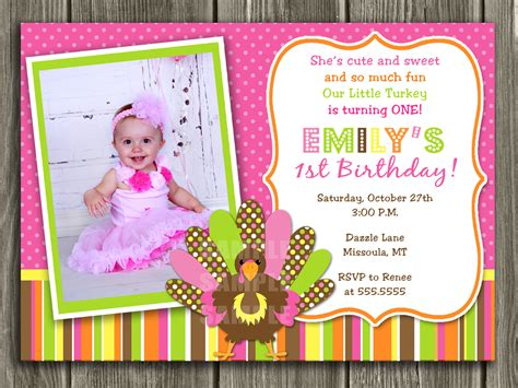 first birthday invitation card template best