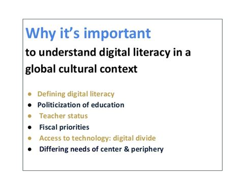 the globalization of digital literacy