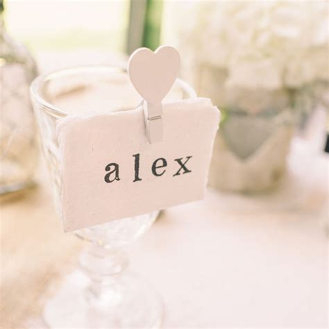 Handmade Wedding Place Cards - place cards handmade cotton paper torn edges pack of