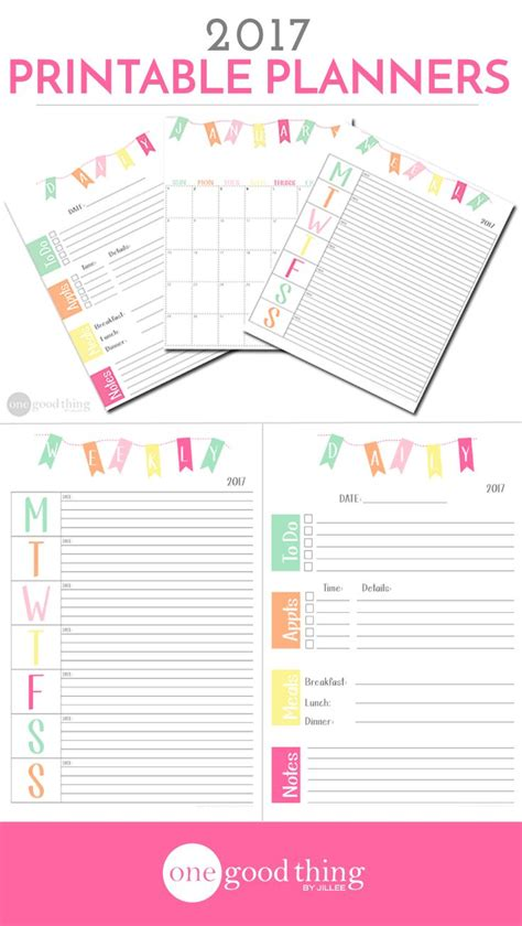 Monthly Planner 2017 Printable