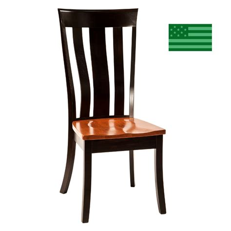 Dining Chairs Made In Usa Made In America Dining Chairs Amish Solid Wood Heirloom Furniture Made In Usa Ynez Side