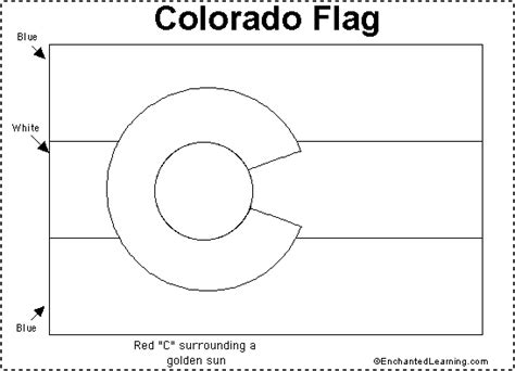 Colorado State Flag Coloring Page colorado flag printout enchantedlearning