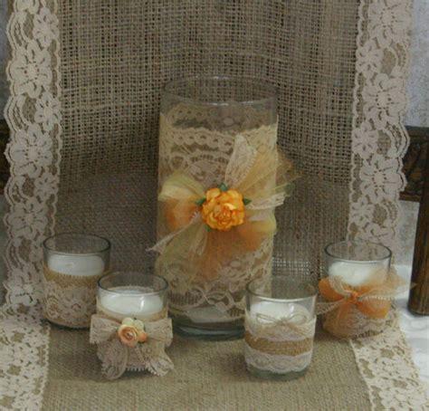 items similar to vintage burlap wedding vase