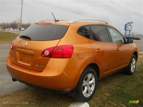 nissan orange orange alloy metallic 2008 nissan rogue sl awd exterior
