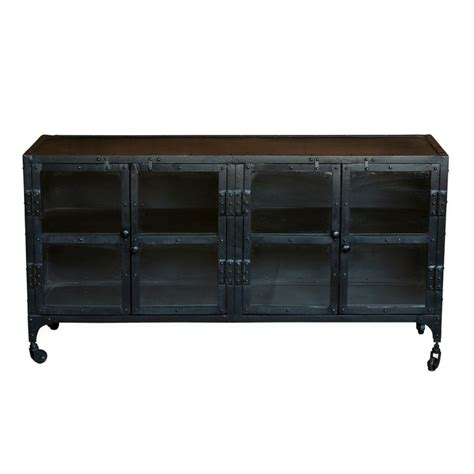 industrial media console fab industrial glass media console furniture