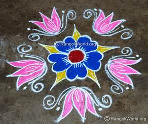Lotus Rangoli Design Maha Shivaratri Rangoli Designs Collection