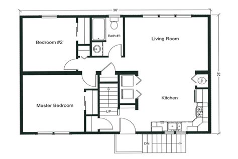 Floor Plan For 2 Bedroom House by 2 Bedroom House Plans Open Floor Plan Modern House