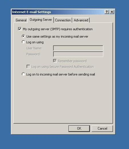 setup mail server on xp ms outlook xp 2002 setup fire2wire