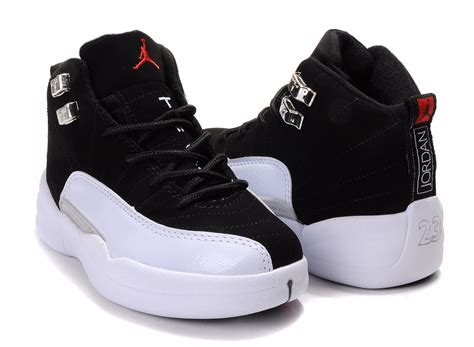 children air 12 white black shoes