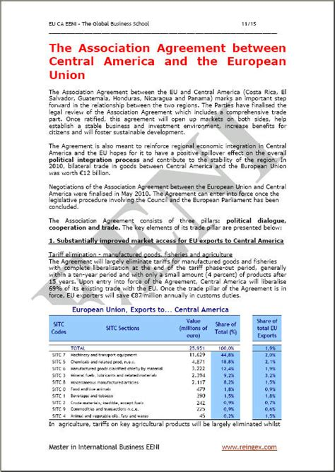 Union Mba Curriculum by Panama Free Trade Agreements