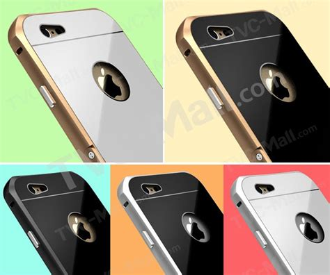 Tempered Glass Iphone 6 47 Inch Gold Silver Depan Belakang Db luphie metal tempered glass hybrid kickstand cover for iphone 6 6s gold silver tvc mall
