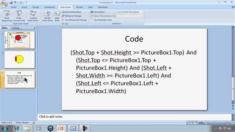tutorial visual basic express 2010 visual basic express 2010 tutorial 37 hit detection