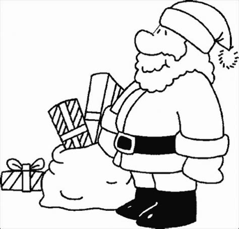 santa coloring page for preschoolers santa claus coloring pages for christmas 2011 kids