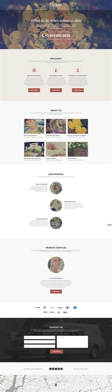 responsive landing page templates funeral services responsive landing page template 55577