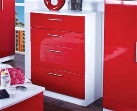 red chest of drawers bedroom queen 4 drawer white high gloss bed box chest