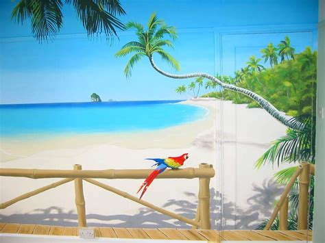 beach murals for bedrooms 3d murals tropical paradise mural palm fringed beach