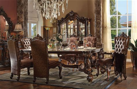 versailles dining room versailles dining set in cherry oak finish 7 piece set 96 quot l